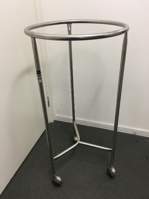 LAU0004 LAUNDRY TROLLEY, Stainless Steel $30