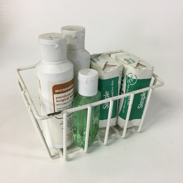 MED0068 MEDICAL SUPPLIES, Soap Rack w Supplies $6.25