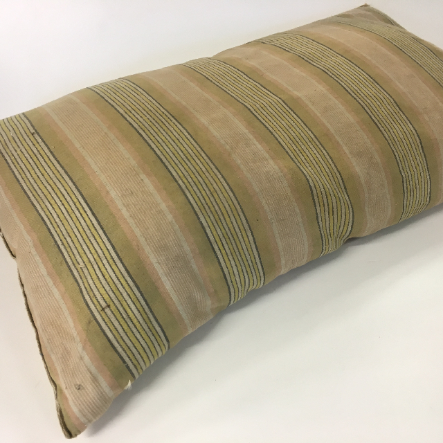 PIL0005 PILLOW, Striped - Aged & Stained $18.75