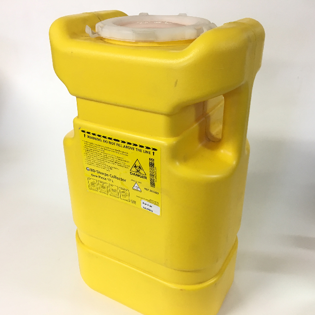 SHA0001 SHARPS CONTAINER, X-Large Yellow Plastic $11.25