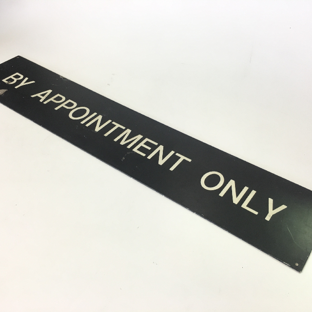 SIG0614 SIGN, By Appointment Only $5