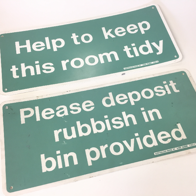 SIG0621 SIGN, Housekeeping - Green Plastic $6.25