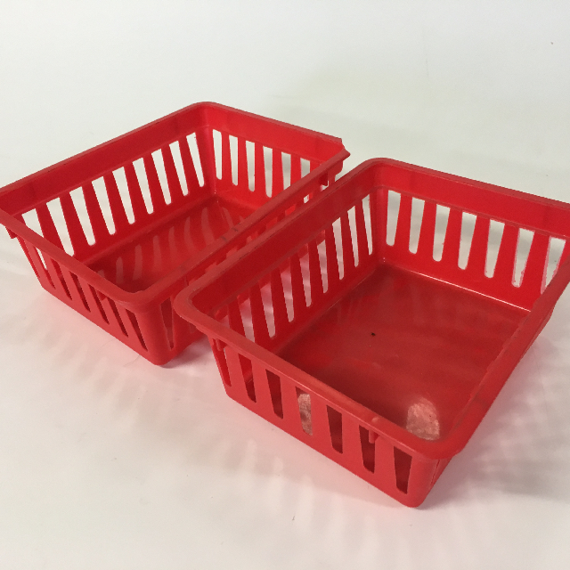 STO0411 STORAGE BASKET, Plastic - Small Red $1.25