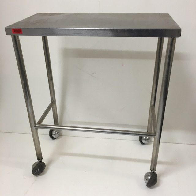 TRO0121 TROLLEY, Rectangular Stainless Steel 2 Tier - 44 x 76 x 95cm H $62.50