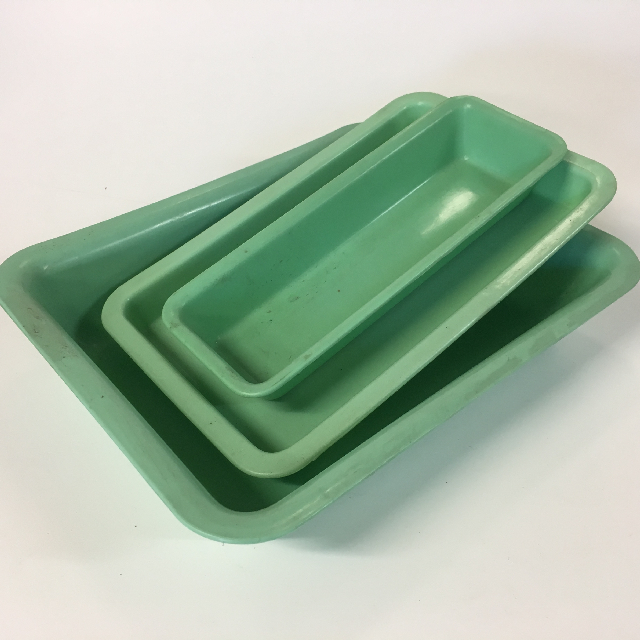TRA0013 TRAY,  Surgical Tray - Green Plastic Medical Procedure Tray, Small - Medium Sizes $3.75