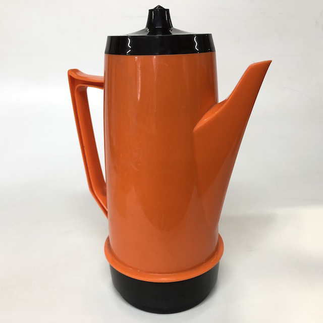 COF0011 COFFEE POT, 1970's Orange Plastic $10