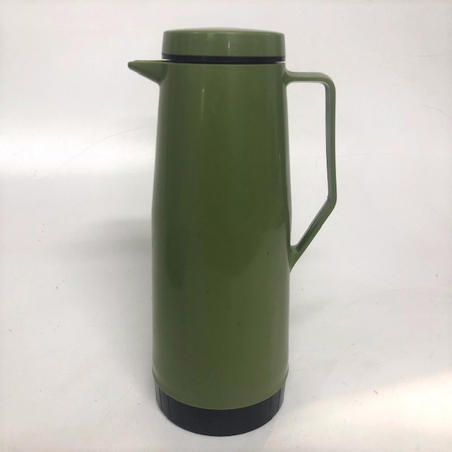 COF0017 COFFEE POT, Thermos Jug - Olive Green Plastic $7.50