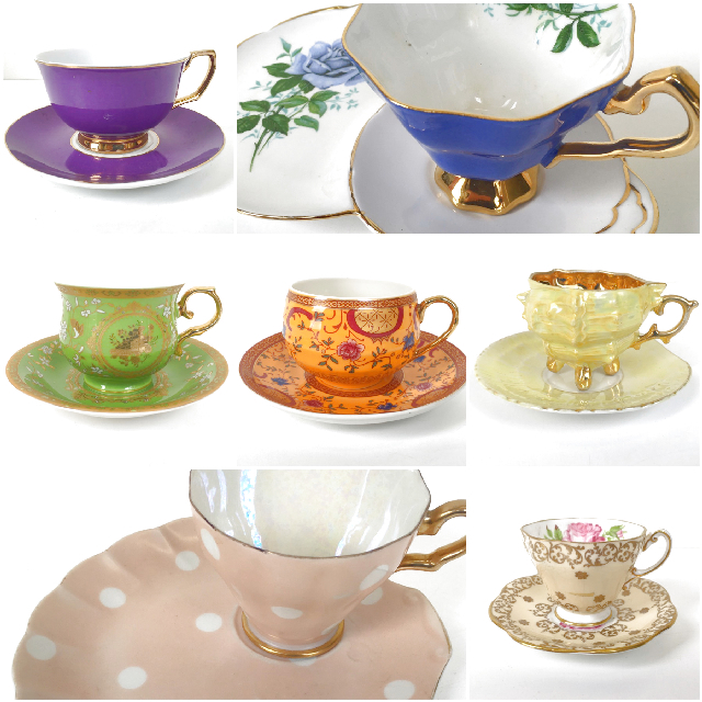 CUP0001 CUP & SAUCER, Designer Bone China - Assorted $5