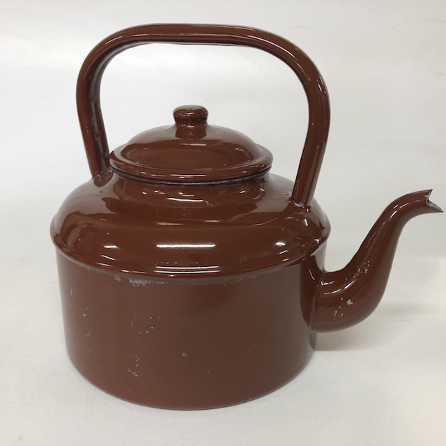 KET0015 KETTLE, Brown Enamel Stove Top $10