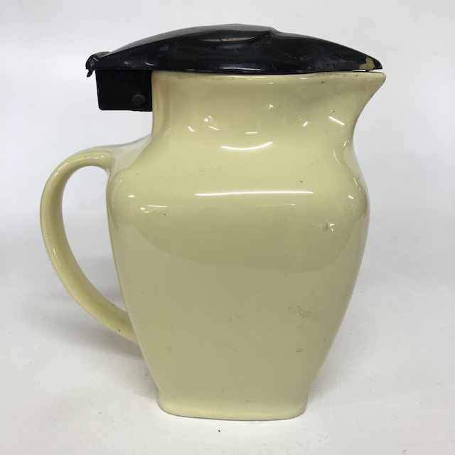 KET0019 KETTLE, Ceramic Jug - Pale Yellow $10