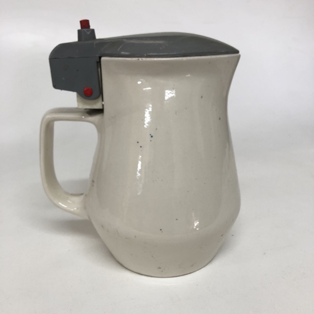 KET0020 KETTLE, Ceramic Jug - Cream w Black Lid $10