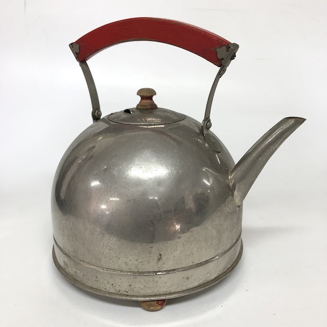 KET0021 KETTLE, Deco Style w Red Handle $10