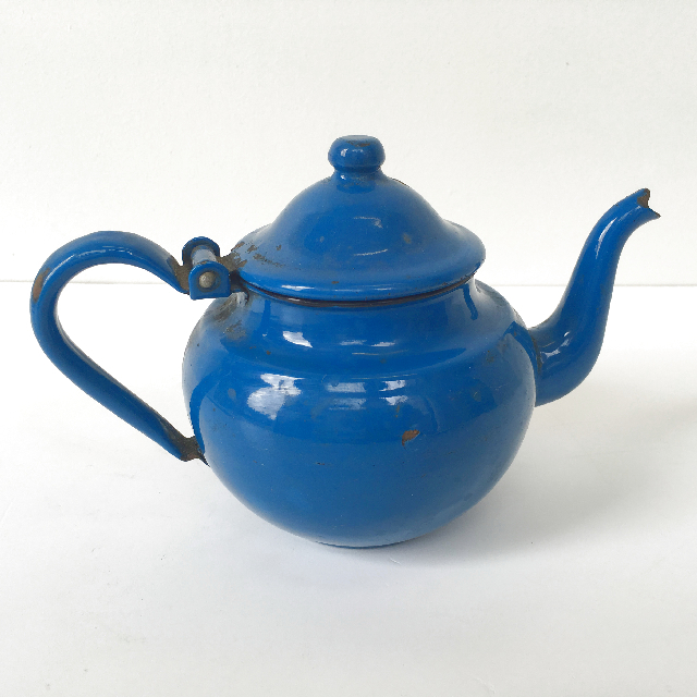 TEA0026, TEA POT, Enamel - Blue $7.50