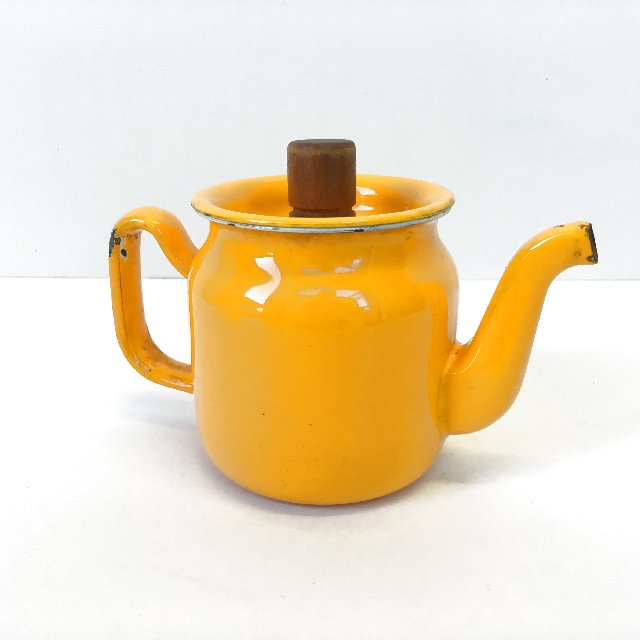 TEA0027 TEA POT, Enamel - Golden Yellow $7.50