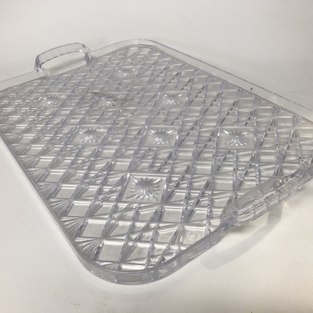 TRA0074 TRAY, Crystal Look (Plastic) $10