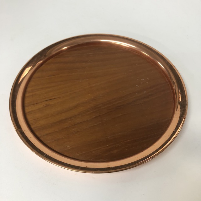 TRA0090 TRAY, Woodgrain and Copper - Small $6.25