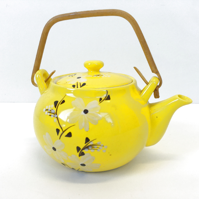TEA0014 TEA POT, Asian Yellow $7.50