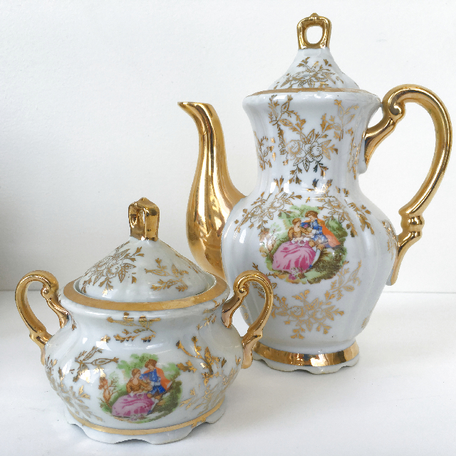 TEA0032 TEA SET, Gold Lovers (2 Piece) $12.50