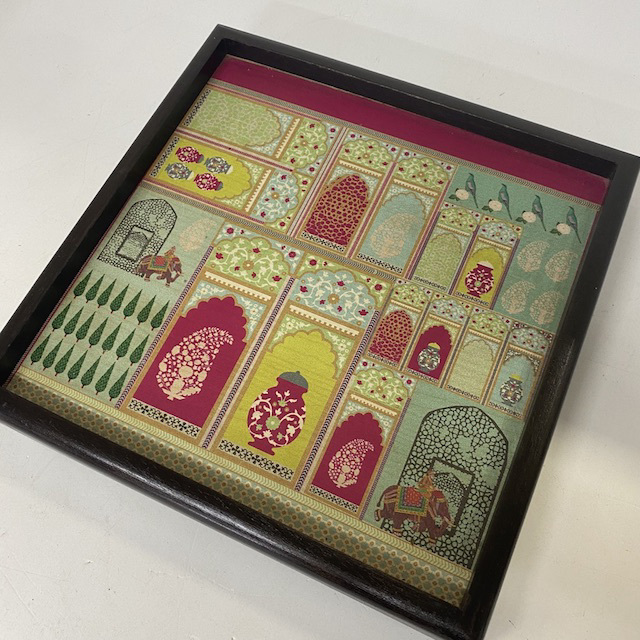 TRA0102 TRAY, Indian Print Square $6.25