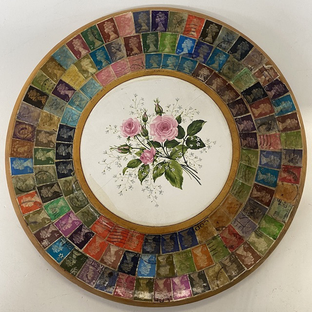 TRA0103 TRAY, British Stamp Decoupage Souvenir $7.50