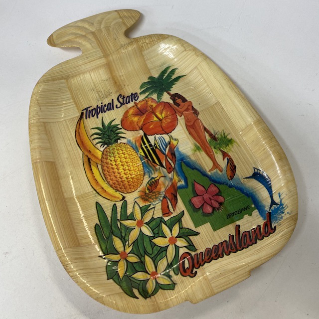 TRA0152 TRAY, Queensland Tropical State Souvenir $3.75