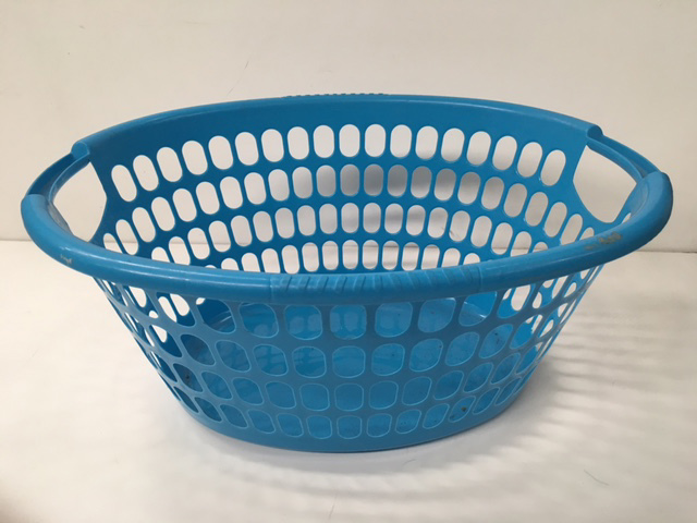 BAS0201 BASKET, Laundry - Plastic Blue $7.50