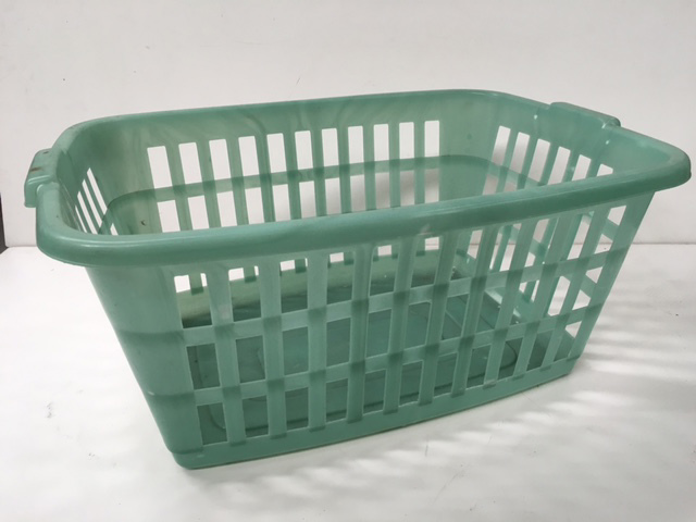 BAS0203 BASKET, Laundry - Plastic Green $7.50