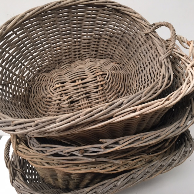 Stack of Medium Wicker Baskets