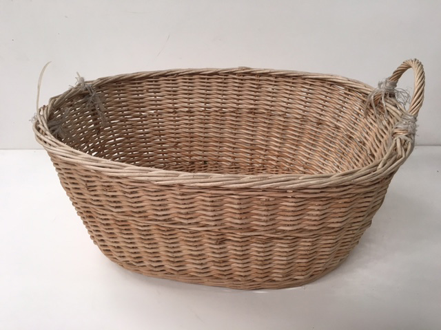 BAS0200 BASKET, Laundry - Small Light Wicker $12.50