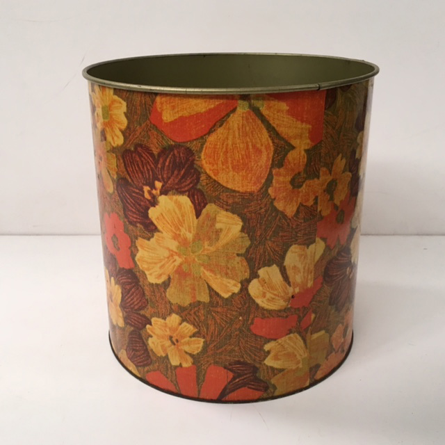 BIN0101 BIN, 1960s Orange Brown Floral $12.50