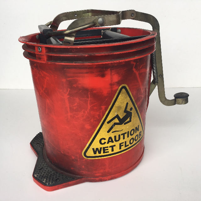 BUC0008 BUCKET, Mop Bucket Red Plastic $15