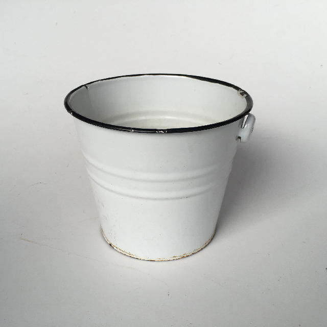 BUC0010 BUCKET, Small White Enamel $10