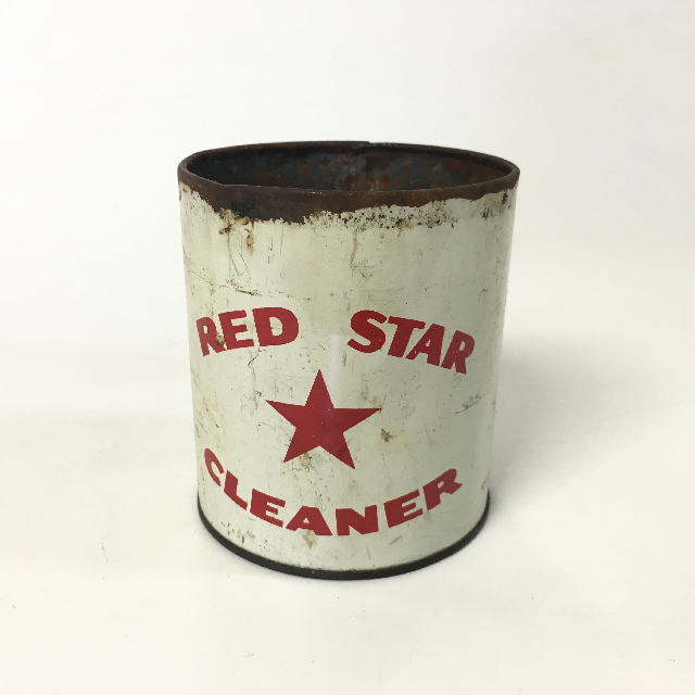 CLE0007 CLEANING, Product Tin - Vintage Red Star Cleaner $6.25
