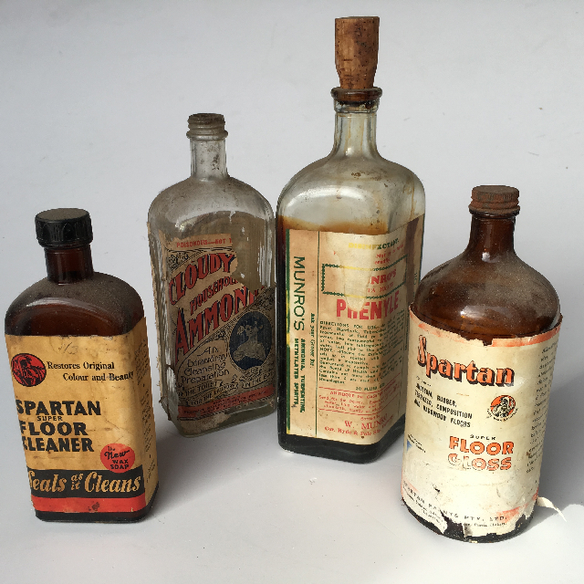 CLE0004 CLEANING, Product Vintage Bottle $6.25
