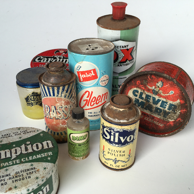 CLE0005 CLEANING, Product Vintage Tin $5.50