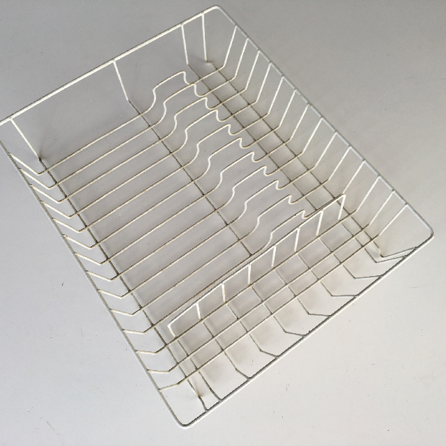 DIS0052 DISH, Rack White Plastic Coated $3.75