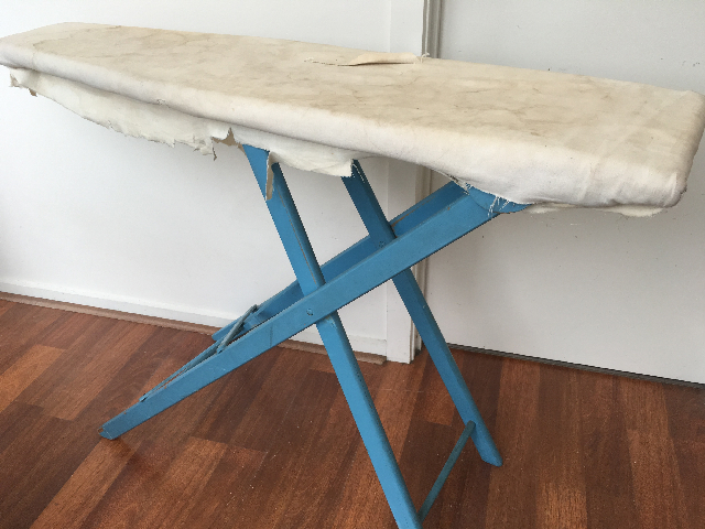 IRO0050 IRONING BOARD, Vintage Style Painted Blue  $30