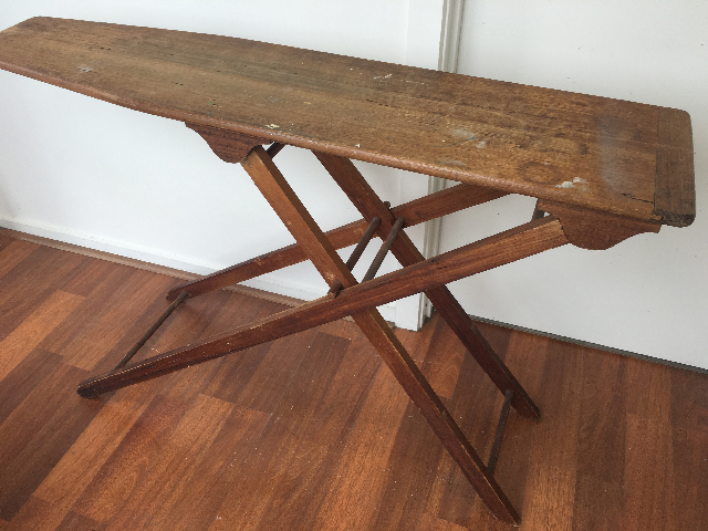 IRO0052 IRONING BOARD, Vintage Timber $30