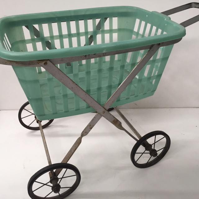 TRO0103 TROLLEY, Laundry Trolley - Silver $22.50 (w Optional Basket)