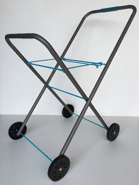 TRO0104 TROLLEY, Laundry Trolley Grey Powdercoated Metal  $12.50