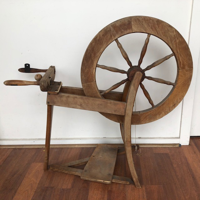SPI0050 SPINNING WHEEL, Craft Timber $55