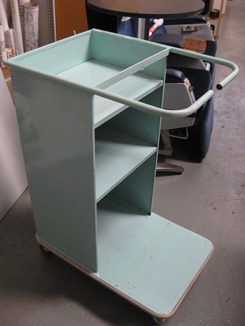 TRO0119 TROLLEY, Airline Trolley - Pale Blue Metal $50