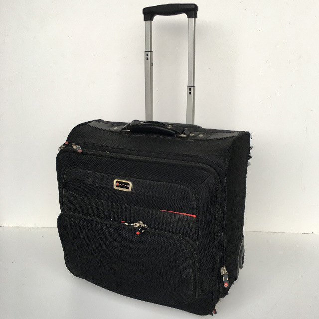 BAG0093 BAG, Legal Case - Black Canvas On Wheels $15