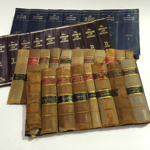 BOO0026 BOOK, Law Book Panel - Spine Only $15