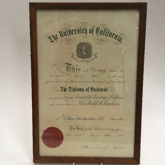 CER0023 CERTIFICATE, University Of California - Business $15