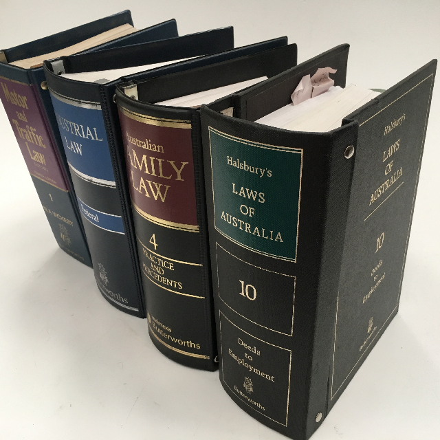 BOO0028 BOOK, Legal Binder - Assorted Vinyl Law Files $3.75