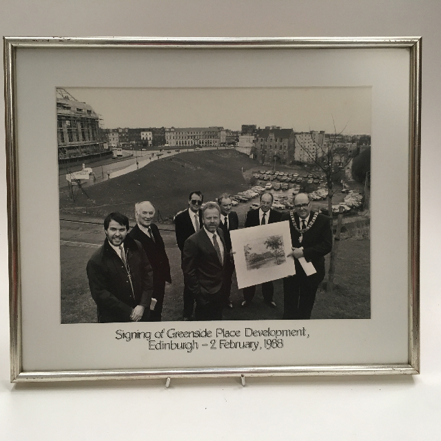 PHO0501 PHOTO, Framed Signing Of Greenplace Development B&W $15