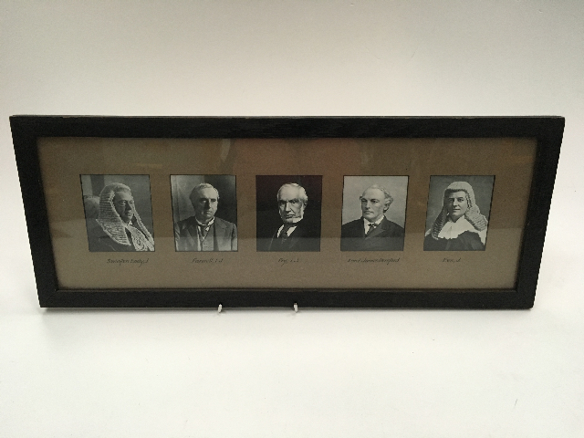 ART0021 ARTWORK, Framed B&W Judge Portraits - Landscape $20