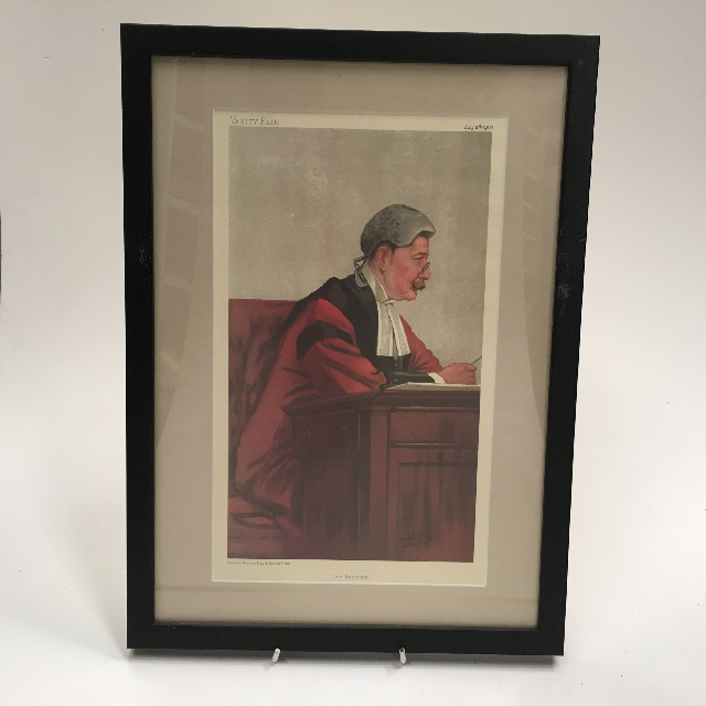 ART0022 ARTWORK, Framed Print Judge - Vanity Fair 1 $20