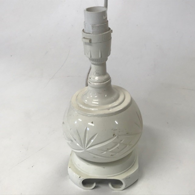 LAM0332 LAMP, Base (Table), Small White Etched $7.50